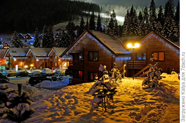 дома, новый год, рождество