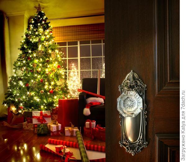 Зал декорированный для новогодних праздников