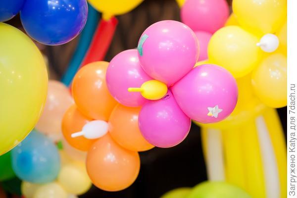 цветочная композиция из надувных шаров