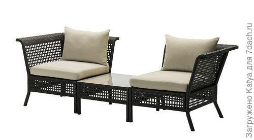 Садовое угловое кресло+столик