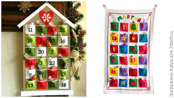 Адвент-календари. Фото с сайтов http://www.johnlewis.com     http://jandabinal.blg.lt