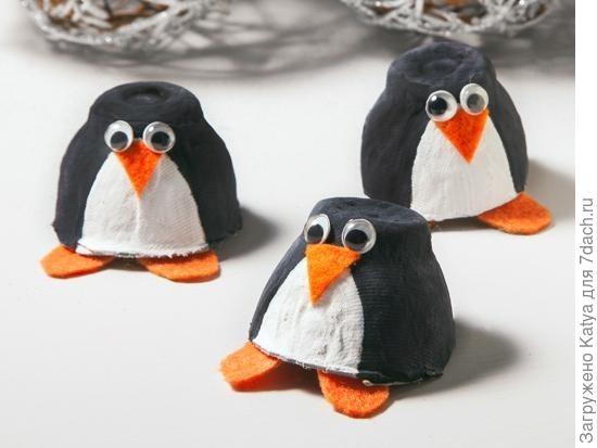 Пингвины из коробки для яиц. Фото с сайта http://thewhoot.com.au