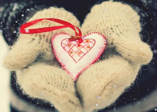 Теплая валентинка