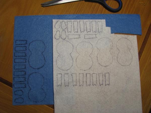 Переносим образцы деталей на ткань