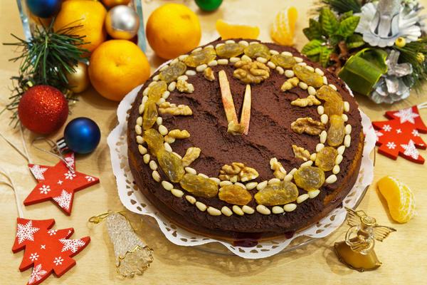Торт - часы