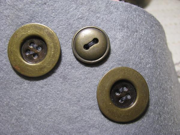 Металлические пуговицы