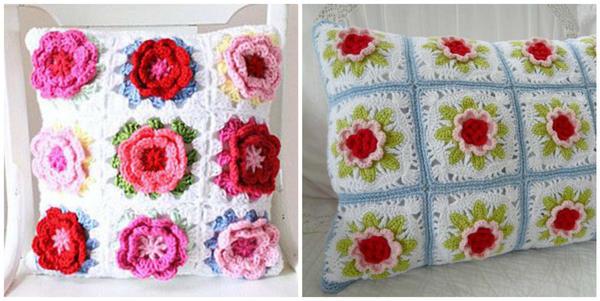 Подушки с цветочными мотивами