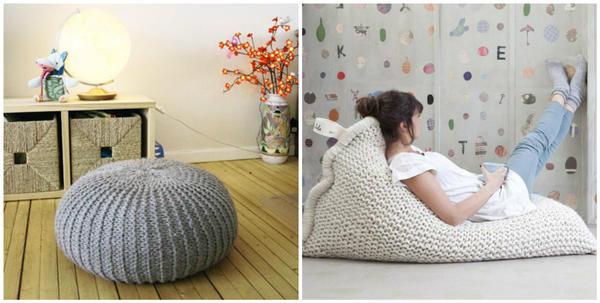 Пуфы и напольные подушки