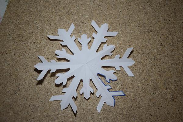 Заготовка снежинки