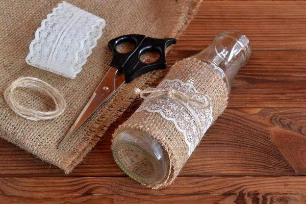 Декор тканью или кожей