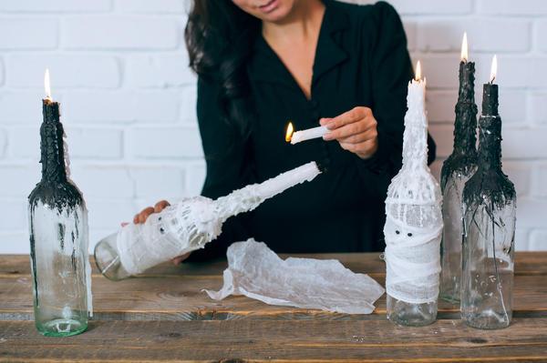 cccfcd Декор бутылок своими руками: вдохновляющие идеи