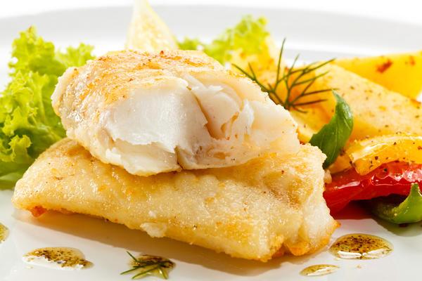 Рыбное филе в миндальной панировке