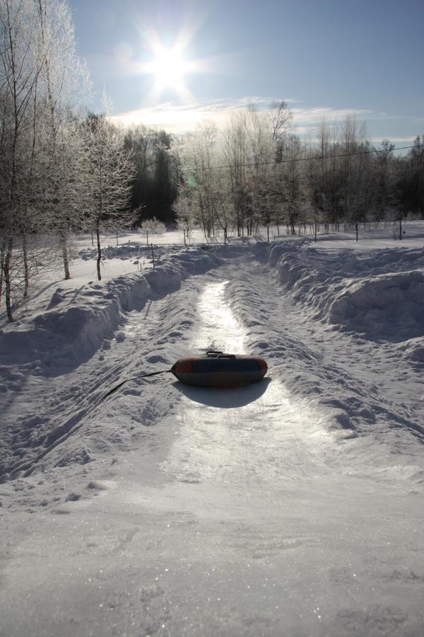 Длинный спуск ледяной горки - фото пользователя Gayechka