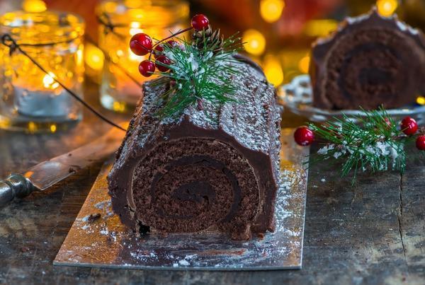 Рождественское полено — традиционная французская рождественская выпечка
