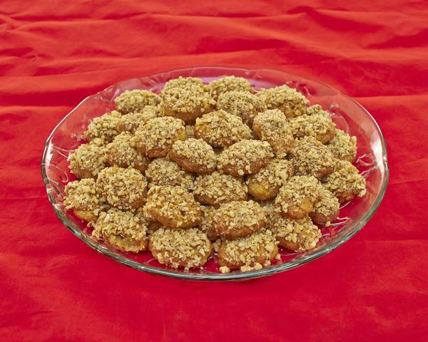 Греческое рождественское печенье Меломакарона