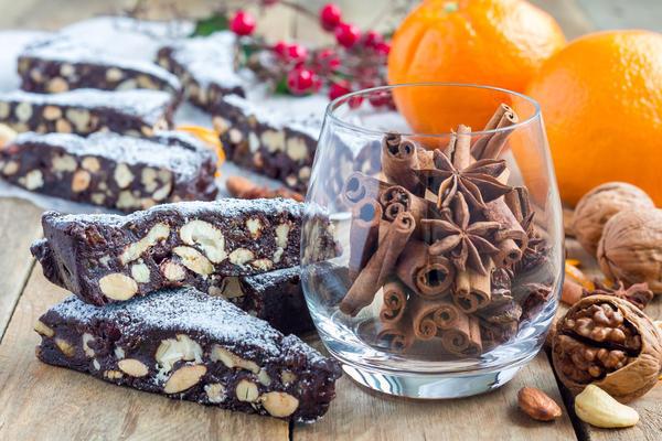 Еще один популярный итальянский рождественский пирог — панфорте