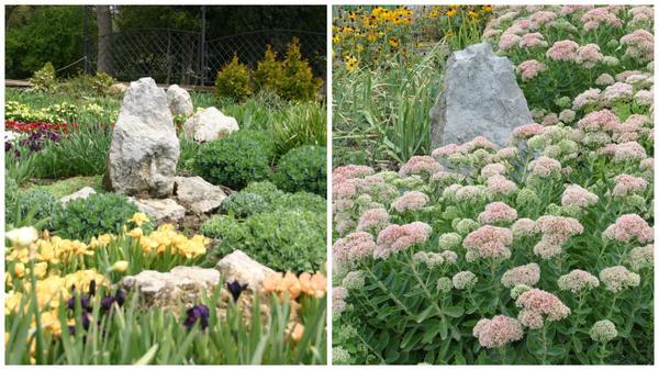 Слева - весенняя композиция, справа - летняя