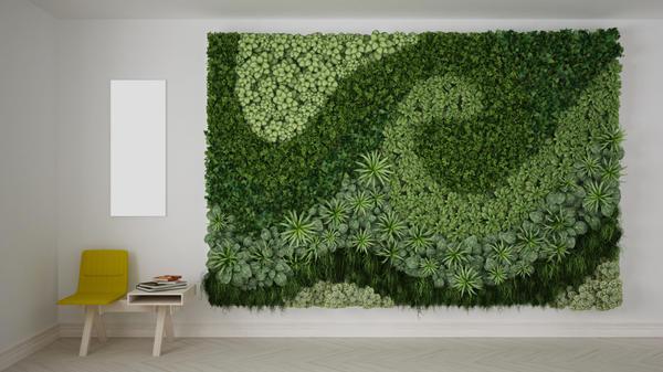 Вертикальное озеленение - отличный способ декорирования благородной стены