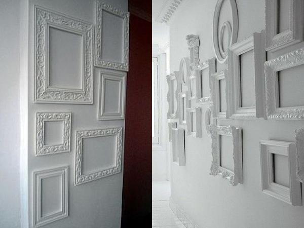 Стильные белые рамки. Фото с сайта ru.pinterest.com