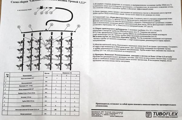 Инструкция по сборке. Фото автора
