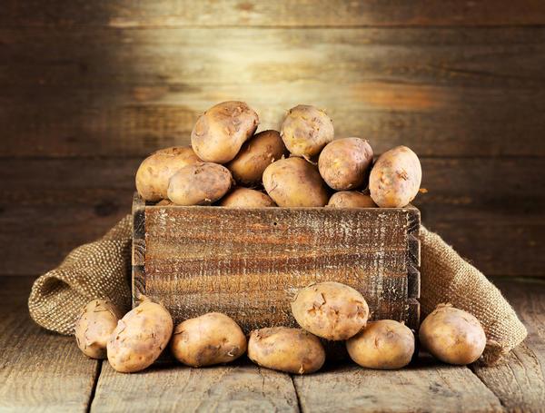 Хранение картофеля в деревянных ящиках