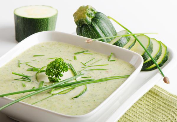 Диетический суп-пюре из кабачка