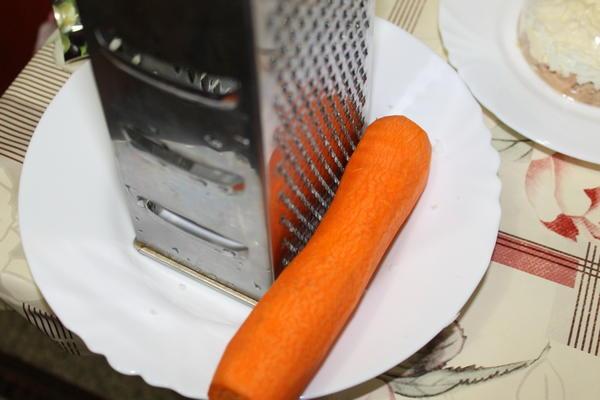 Следующий слой - морковь