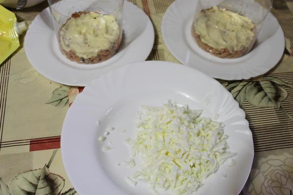 Следующий слой салата