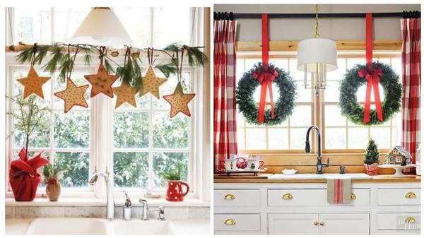 Праздничное украшение кухни