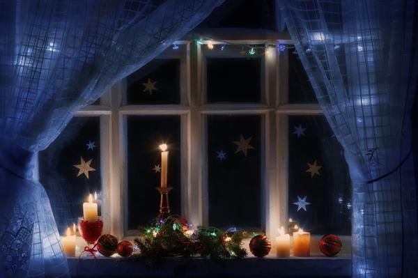 Звёзды на оконном стекле