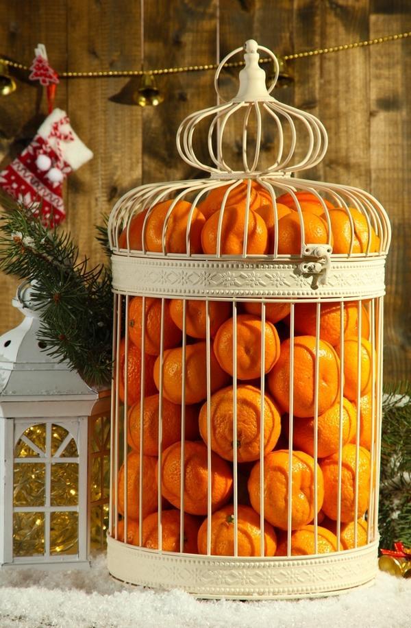 Декор из мандаринов
