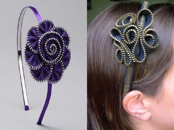 Украшение ободка для волос. Фото с сайта pinterest.com
