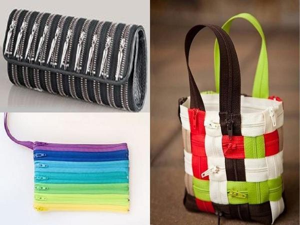 Разнообразные сумочки из застежек-молний. Фото с сайта pinterest.com