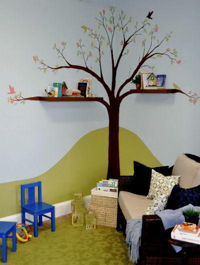 Наклейка на стену. Фото с сайта hausdekorieren.com