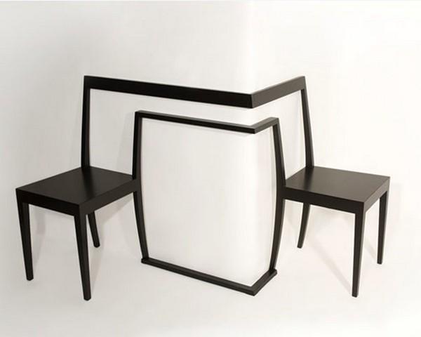 Необычные угловые стулья. Фото с сайта antonbjorsing.com