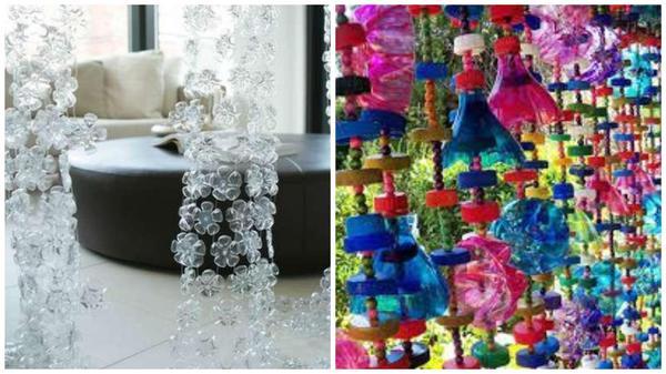 Занавески из пластиковых бутылок. Фото с сайта ru.pinterest.com