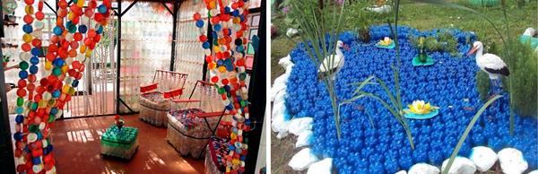 Идеи использования пластиковых бутылок. Фото с сайта ru.pinterest.com