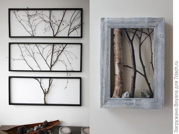 Необыкновенные картины из элементов дерева