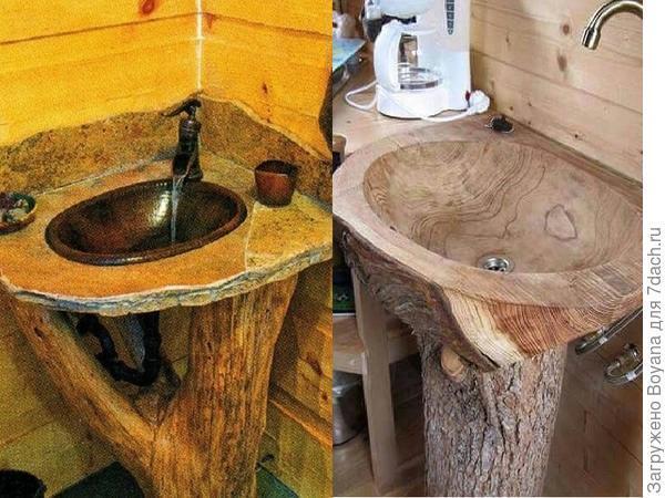 Деревянные раковины