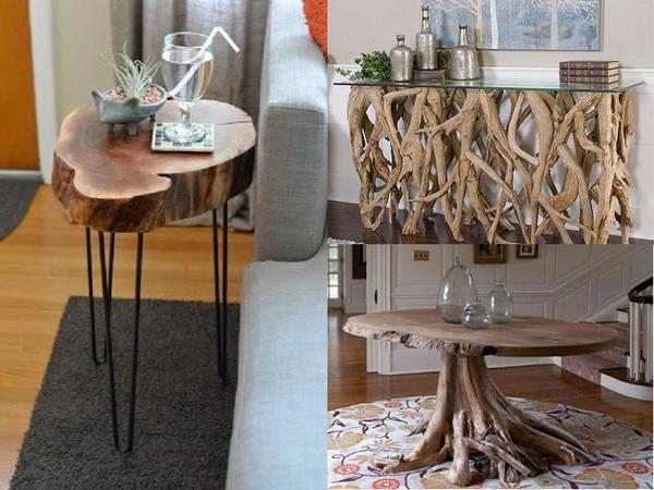 Столики – деревянные частично или полностью