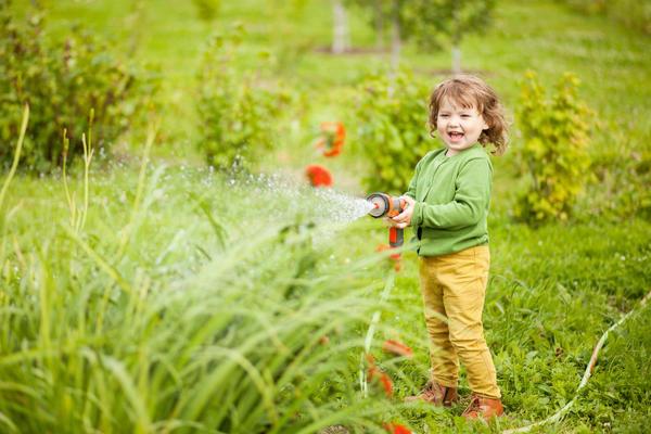 Дайте ребенку хороший пистолет-распылитель, и он польет весь сад!