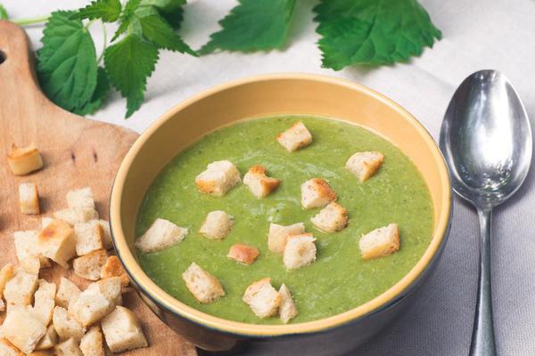 Французский крапивный крем-суп