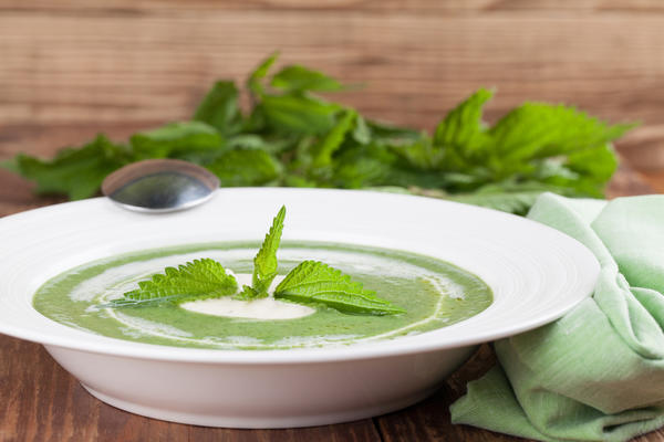 Кавказский суп с зеленью