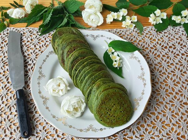Зелёные оладьи