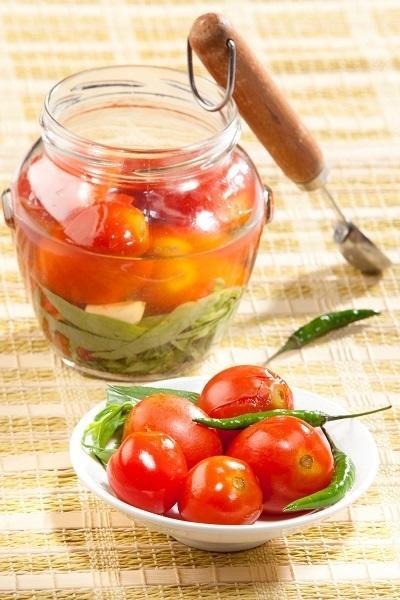 Маринованные помидоры без уксуса