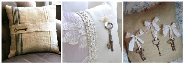 Ключи - декор для подушек