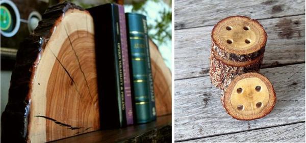 Подставка для книг и пуговицы