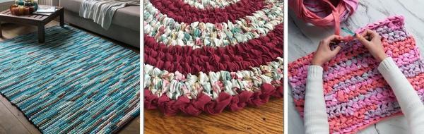 Традиционный коврик из остатков ткани