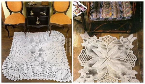 Ажурные коврики в ретро-стиле