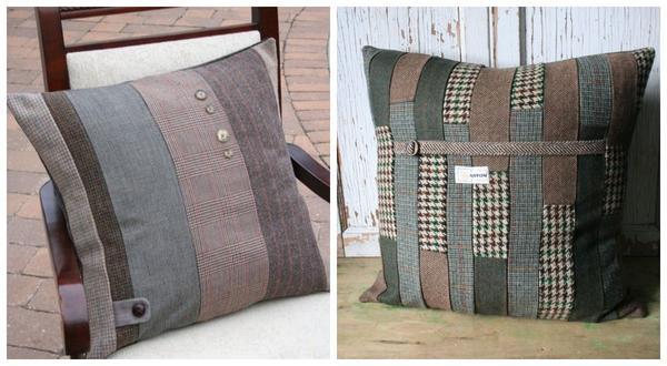 А как вам подушки из старых пиджаков?